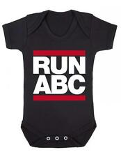 """Baby Play Suit """"RUN ABC """" Run Band Inspired, Funny, Baby Play suit - Baby Grow"""
