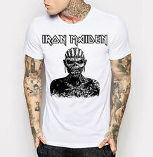 Men's Iron Maiden T-shirt Heavy Metal Band White Gift Tee Shirt M L XL 2XL 3XL