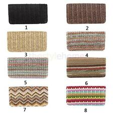 Womens Trendy Weave Straw Clutch Purse Coin Wallet Handbag Ethnic Card Holder