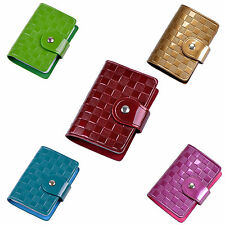 HE610 Woman Lady Faux Leather ID Credit Card Case Holder Pocket Bag(5 Colors)