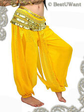 CLEARANCE SALE Tribal Belly Dance Harem Pants Costume YELLOW