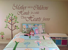 "Vinyl Wall Art Sticker ""A mother holds her childrens hands"" 3 sizes, 15 colours."