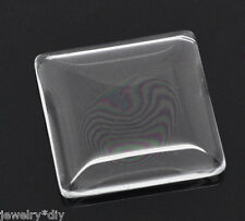 Wholesale JD Clear Square Glass Dome Tile Seals 25x25mm
