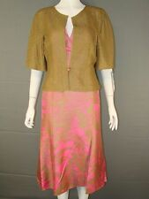 BNWT TOM BOWKER PURE SILK MOTHER OF THE BRIDE DRESS & JACKET SUIT SIZES 10 & 12