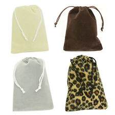 "4x5 1/2"" Quality Velvet Bags Jewelry Wedding Party Favor Gift Drawstring Pouch"