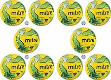 10 x MITRE IMPEL TRAINING FOOTBALLS - YELLOW/GREEN - Sizes 3, 4 and 5