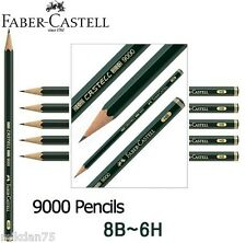 Faber-Castell Castell 9000 Black Lead Pencils from 6H to 8B