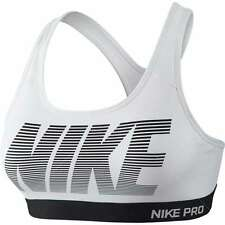 NEW Nike Pro Classic Padded Graphic Ladies Sports Bra W 726934-100 Training