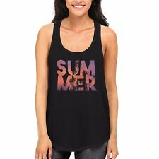 Summer Palm Tree Tank Top for Women Work Out Clothes Beach Wear Vacation Tanks
