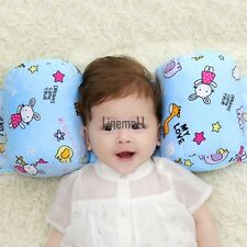 Baby Infant Safe Sleep Positioner Prevent Flat Head Shape Anti Roll Pillow LM