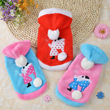 Dog Hoodie Pet Christmas Clothes Coral fleece Warm Clothes Fit for Autumn Winter