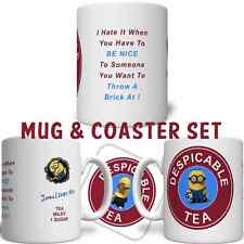 Minion Despicable Tea Coffee Personalised YOUR NAME Costa Mug FREE DELIVERY