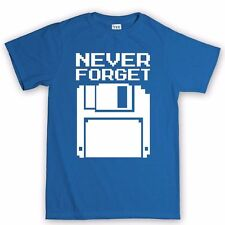 Never Forget Floppy Disk Retro Console New PC Geek Nerd Big Bang Theory T shirt