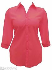 New Red Shirt /blouse 16,18,20,22,24,26,28/30,32/34, 36 Womens Plus Size Lick