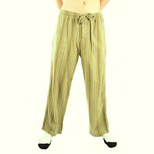 Life is Good Artichoke Green Striped Flannel Pajamas Lounge Pants Sleepwear PJs
