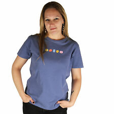 Life is Good Blue Bleu Color Stones Short Sleeve Crusher T-Shirt Ladies Tee Top