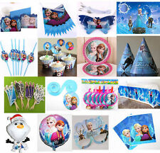 Girl Cup FROZEN Birthday Party Supply Decoration Tableware Napkins Gift Bag Hats