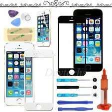 Front Outer Screen Touch Glass Lens Replacement For iPhone 5 5S SE Tool UV Glue