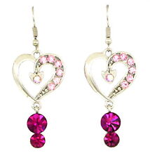 Made with Swarovski Elements Crystal Angel Chandelier Love Heart Earrings Gift