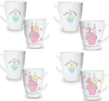 Cupcake China Mug Birthday Gift Idea For Her 16th 18th 21st 30th 40th 50th 60th