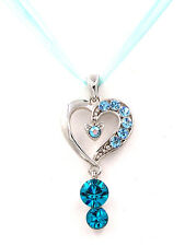Made with Swarovski Elements Crystal Angel Clover Love Heart Necklace Gift