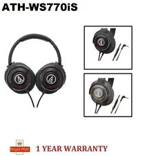 100% Genuine New Audio-Technica ATH-WS770iS Solid Bass Over-Ear Headphones set