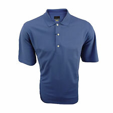Greg Norman Mens Golf Polo Blue - Play Dry