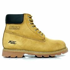 Fuda 6823 Men's Nubuck Leather Oil & Water Resistant  Work Boots Wheat