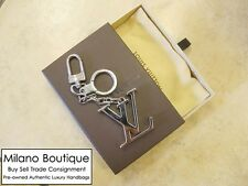 Authentic LOUIS VUITTON Porte Cles Initilal Key Holder Ring Charm