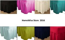 Poly Cotton Plain Dyed Fitted Valance Sheet Bed- All Sizes-Free postage
