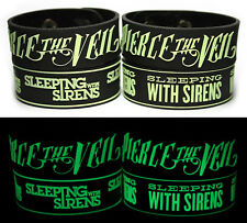 PIERCE THE VEIL SLEEPING WITH SIRENS Rubber Bracelet Wristband Glows in the Dark