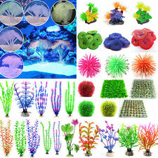 Artificial Coral Plastic Grass Plant Fish Tank Aquarium Decoration Ornament New