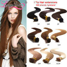"100 strands pre bonded stick tip I Tip human hair extensions 18"" 20"" 22"" 24"""