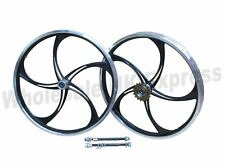 "20"" BMX Bike Bicycle Mag Alloy Front Rear Rim Freestyle Wheel Set Skyway"