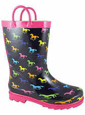 NEW! Smoky Mountain Boots - CHILD'S - Western Rubber Rain Boots - Ponies Multi