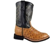 NEW! Smoky Mountain Boots - TODDLER - Western Cowboy - Leather - Ostrich