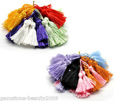 "GB Wholesale Mixed Silky Tassels 4.5-5cm(1-3/4""-2"") B18179"