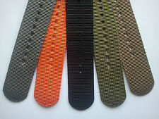 24mm 2-Piece 3-Ring Ballistic Nylon Military Diver Watch Strap Band