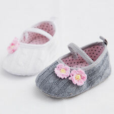 Cute Flower Newborn Baby Infant Toddler Baby Girl Soft Sole Shoes Sneaker 3 Size