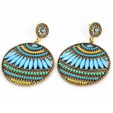 Ethnic Boho Bohemian Earrings Round Temperament Joker Indian Earrings for Women