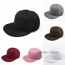 Women's Men's Fashion Adjustable Baseball Cap Snapback Hip-hop Hat Flattened Hat