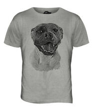 AMERICAN BULLDOG SKETCH MENS PRINTED T-SHIRT TOP GREAT GIFT FOR DOG LOVER BULL