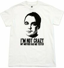 Adult TV Show Big Bang Theory Sheldon Cooper I'm Not Insane Tested T-shirt Tee