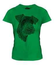 AIREDALE TERRIER SKETCH LADIES PRINTED T-SHIRT TOP GREAT GIFT FOR DOG LOVER