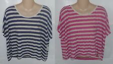 Womens AEROPOSTALE Striped Dolman Cropped Shirt Top NWT #1317