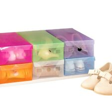 Thick Transparent Plastic Clamshell Shoebox Storage Box Drawer Shoe Boots Box