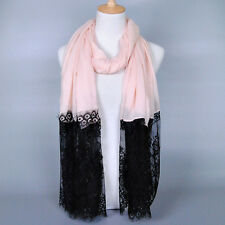 Fashion Women Lady Long Lace Voile Neck Scarf Scarves Wrap Soft Stole Shawl New