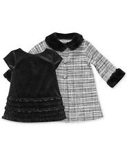Sweet Heart Rose Baby Girls 2-Piece Dress & Coat Set Holiday outfits Black New