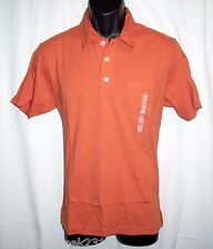 OLD NAVY Mens Shirt Size M Polo Short Sleeve Cotton Orange New