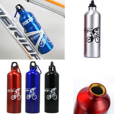 Portable 750ml Sport Bicycle Road Bike Cycling Drink Water Cup Bottle Jug Alloy